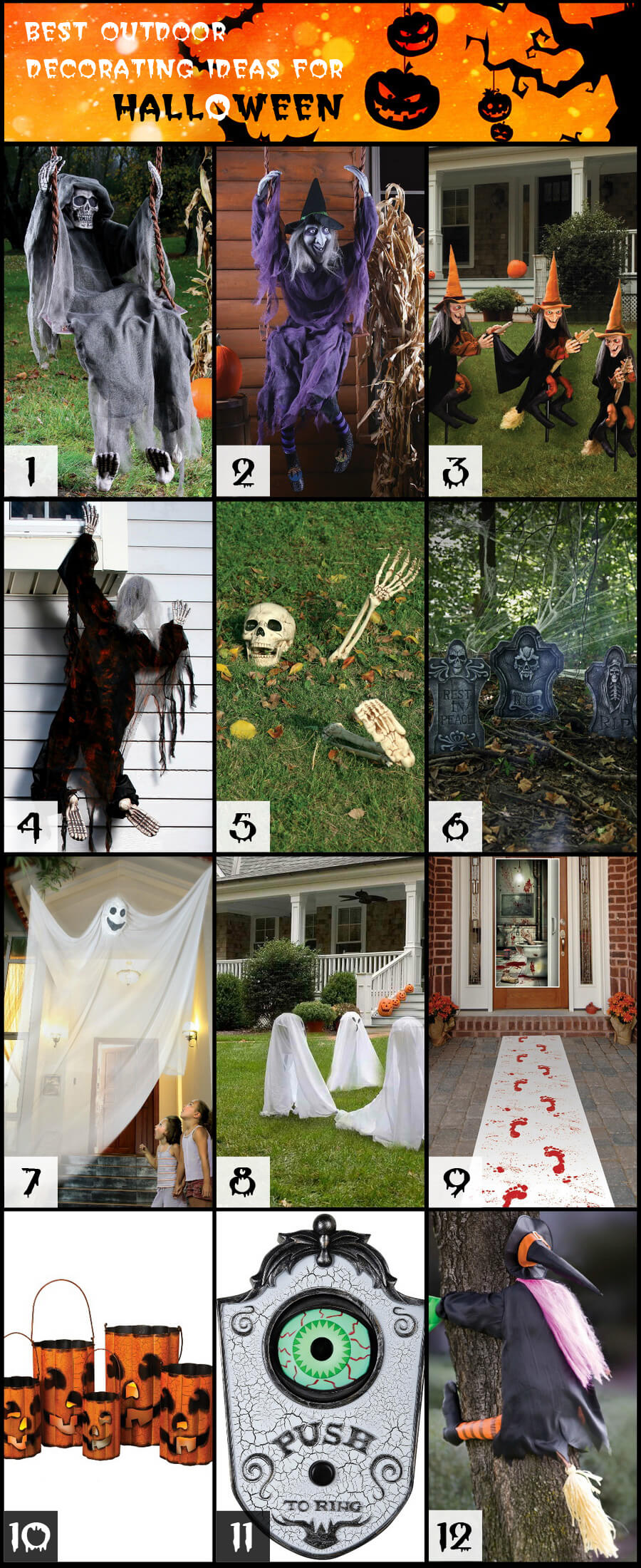 12 best outdoor decorating ideas for halloween