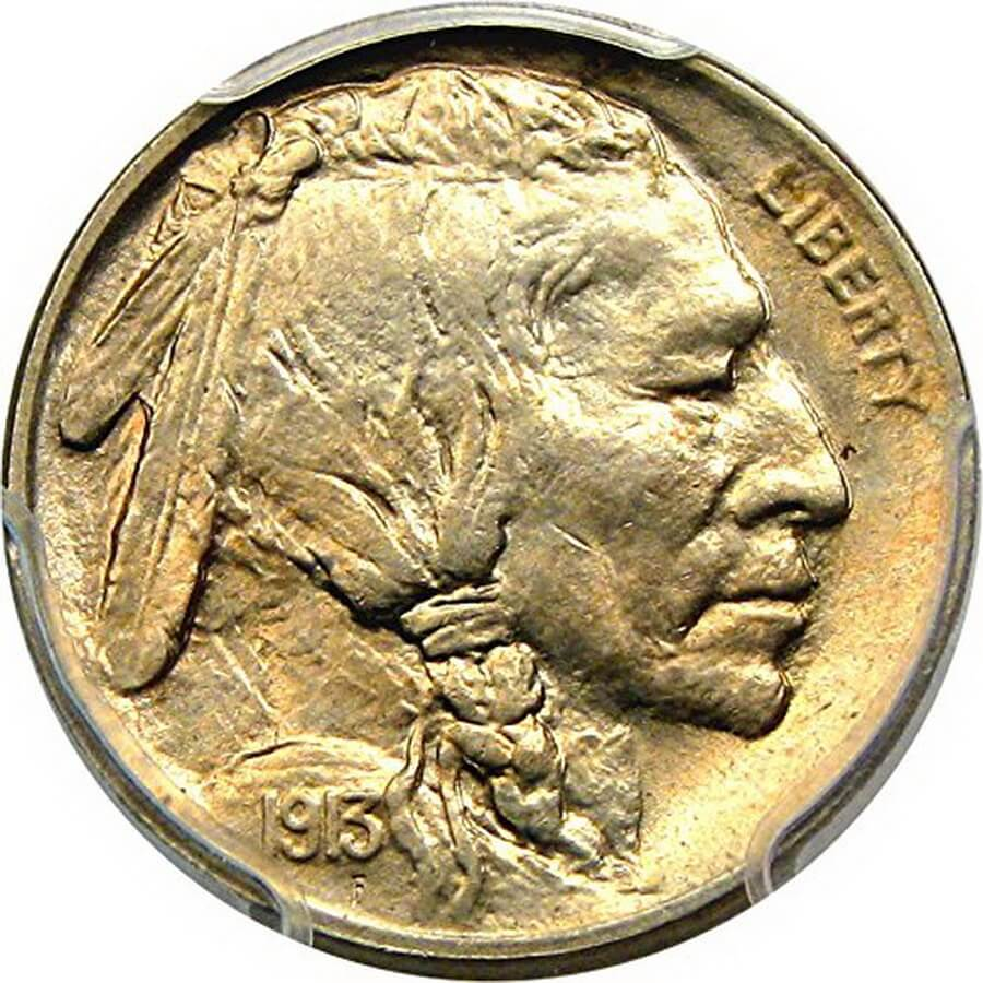 1913 P Buffalo Nickel Type 1 MS66 PCGS - best gift for coin collector