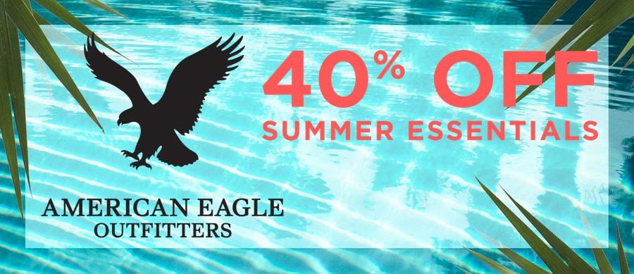 American Eagle - 40% off summer essentials