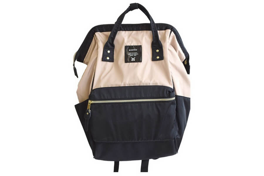 Anello Lightweight Nylon Square Rucksack