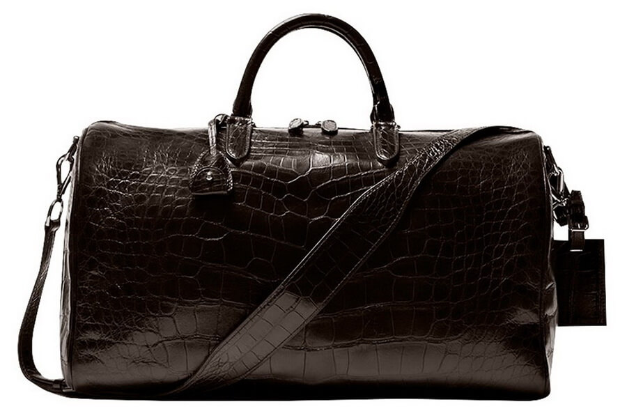 Chateau de Laquant 'Saint-Tropez' Crocodile Duffle Bag - best gift for travel loving dad