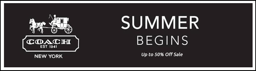Coach - Up to 50% Off Summer Sale