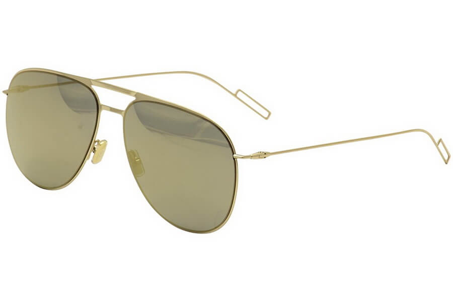 Dior Blacktie Or Large Miroirs - Metal Frame with Large Mirrored Lenses