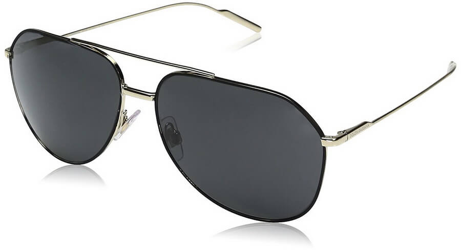 Dolce & Gabbana Men's Metal Man Aviator Sunglasses - Elegant Metal Frame with Plastic Lens