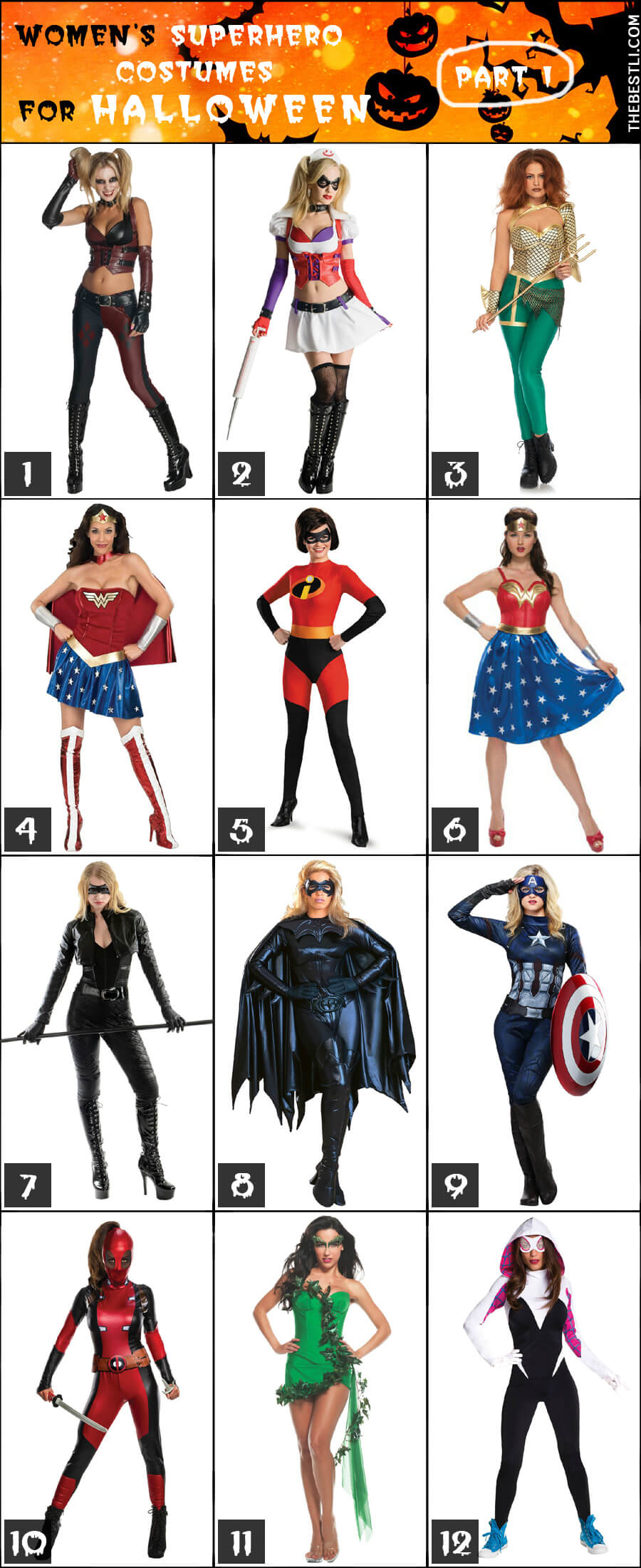 Womenu0027s Superhero u0026 Villain Costumes for Halloween - part 1  sc 1 st  theBESTli.com & Best 20+ Womens Superhero Costume Ideas for Halloween 2017