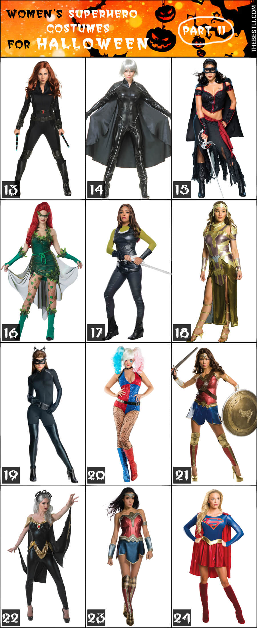 Women's Superhero & Villain Costumes for Halloween - part 2