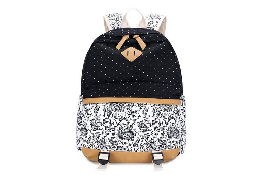 Imyth Casual Canvas Backpack Fashion School Bag for Girls