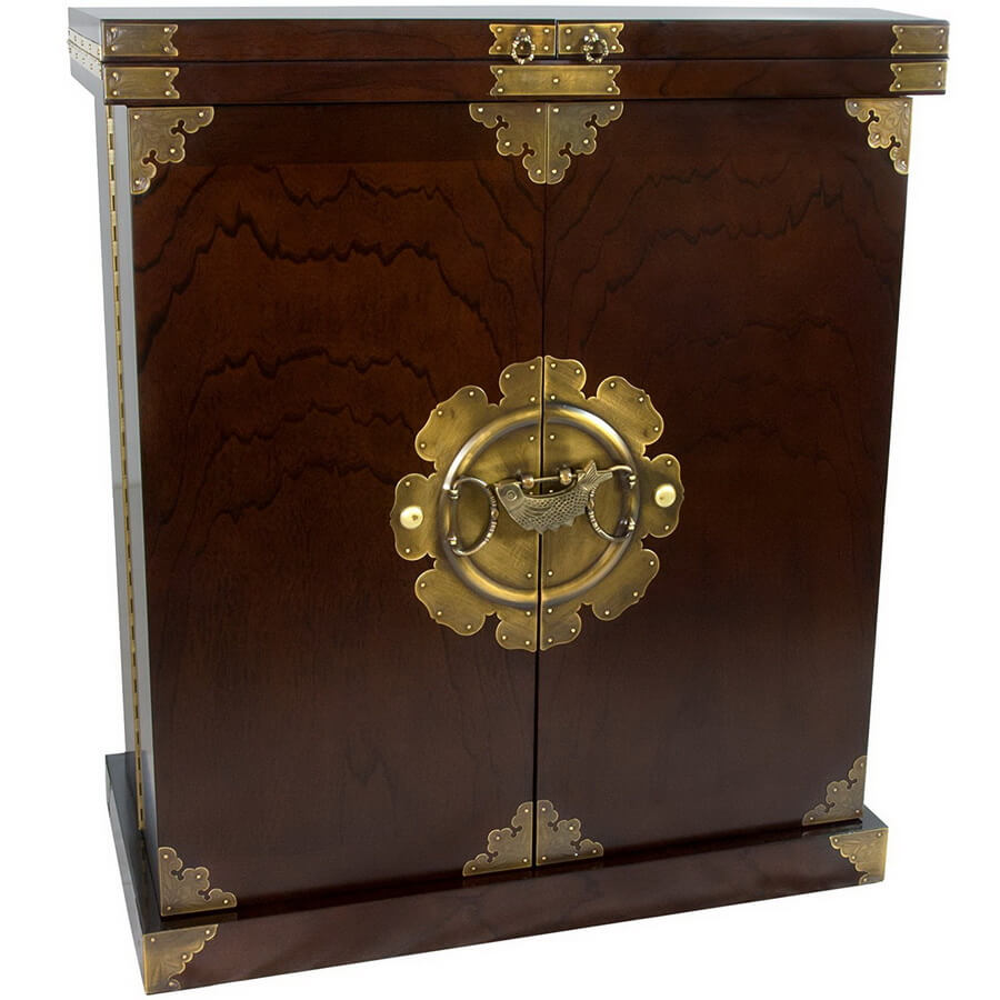 Korean Antique Style Liquor Cabinet Wine Bar - best extraordinary gift for dad