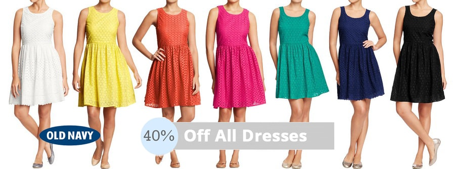 Old Navy - Up to 40% Off All Dresses
