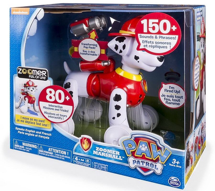Paw Patrol, Zoomer Marshall Interactive Pup - Best Interactive Toy