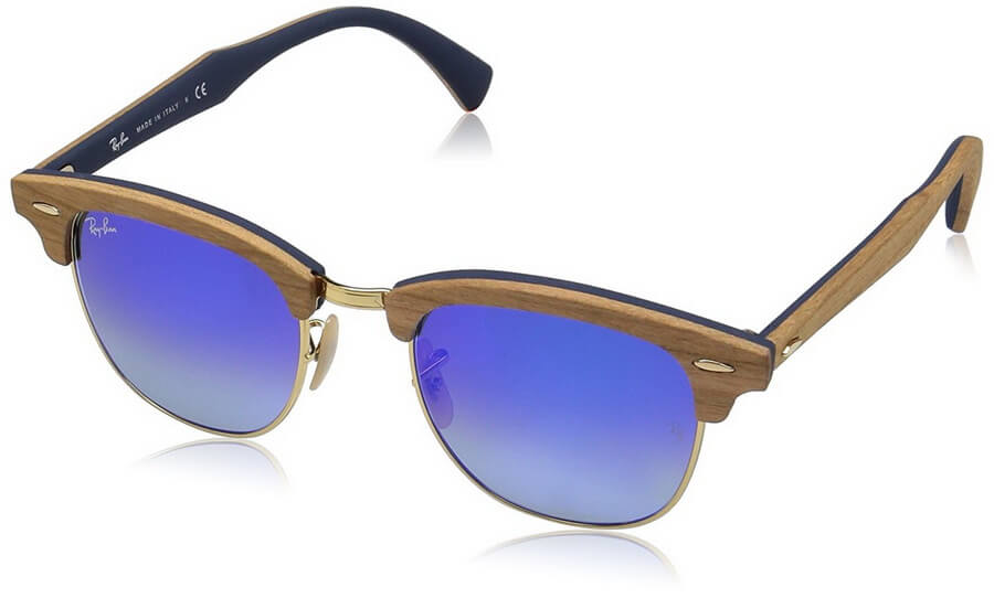 Ray-Ban Men's Clubmaster Sunglasses is an Absolute Icon of the Ray-Ban Collection