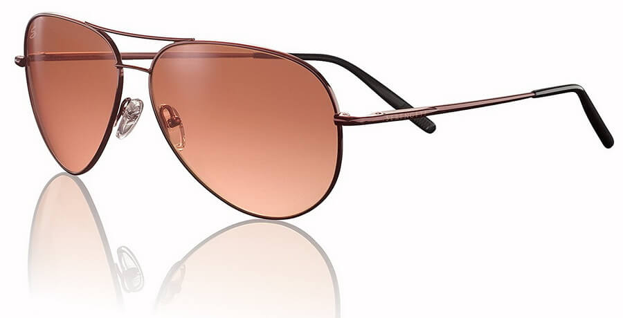 Serengeti Aviator Sunglasses - Ultra-lightweight Polycarbonate Lens