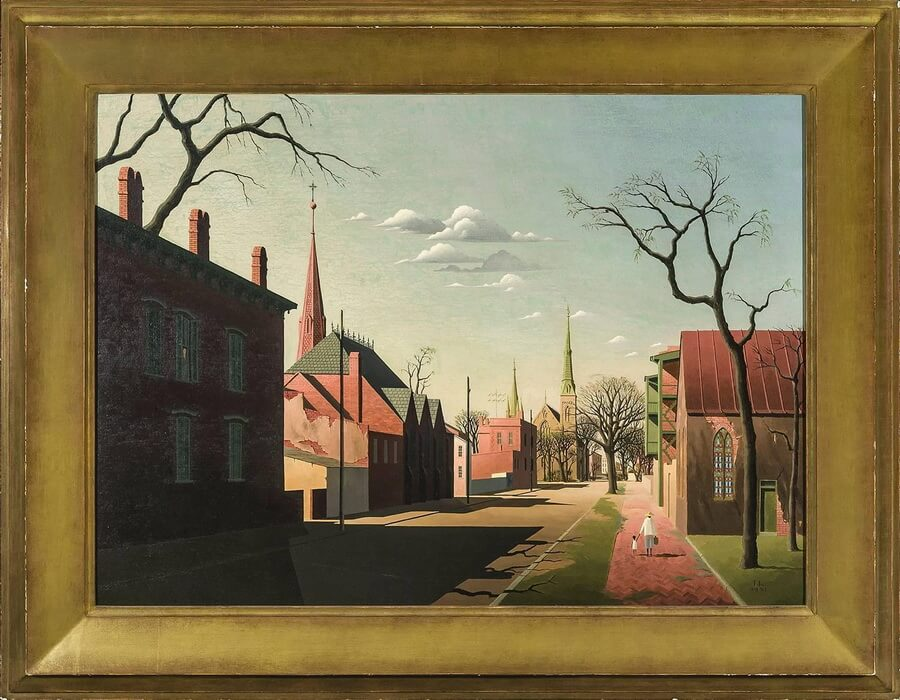 Thomas Fransioli 'Street Scene' (South Boston, 1951) - best gift for art lover dad