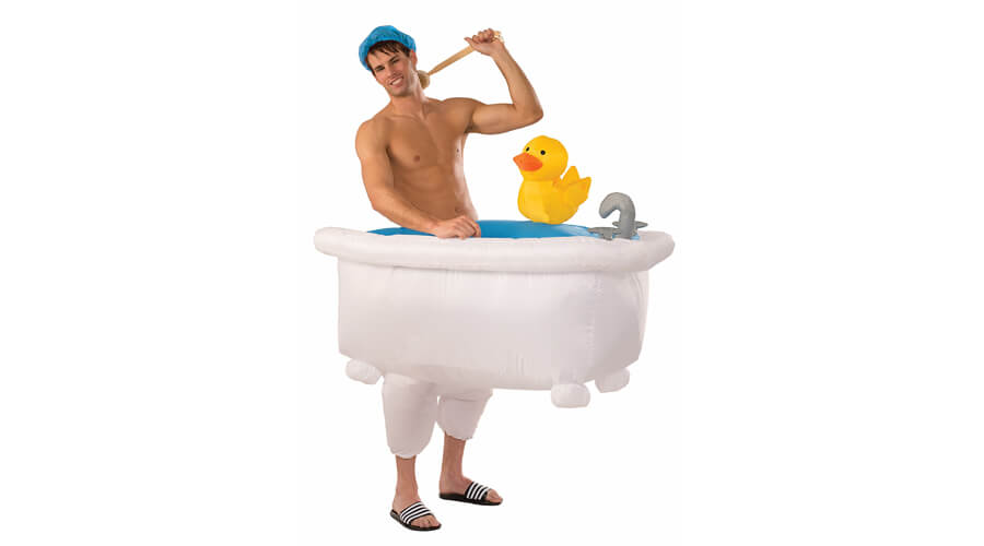 Adult Inflatable Man In Tub Halloween Costume