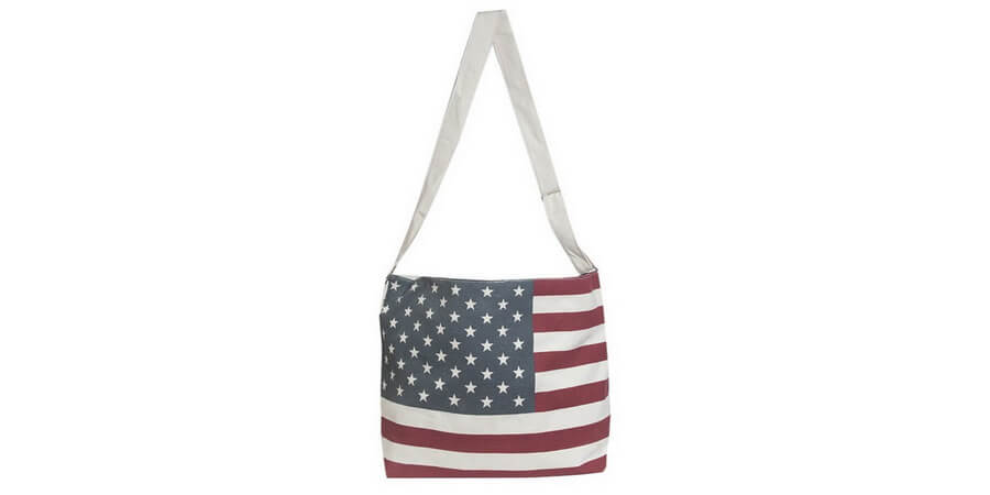 American Flag Crossbody Tote Bag