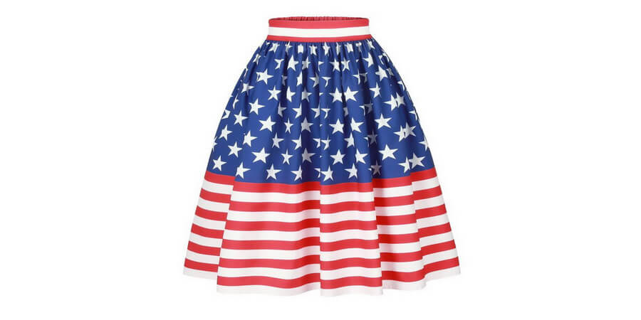 American Women Summer Short Skirt