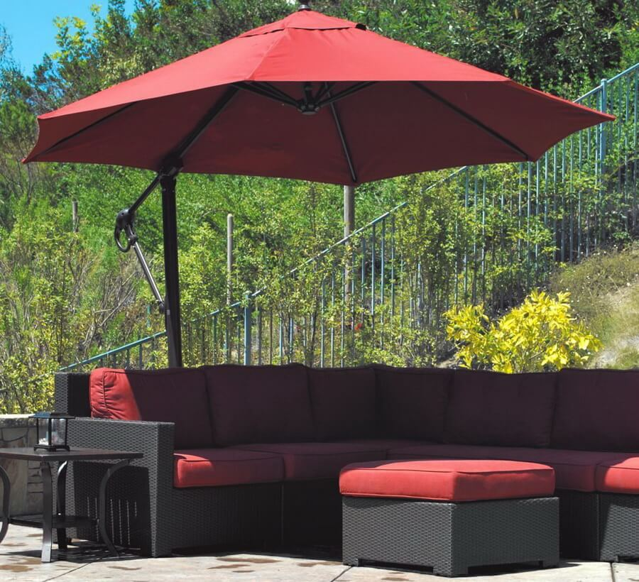 Galtech Sunbrella Easy Tilt 11-ft. Offset Umbrella