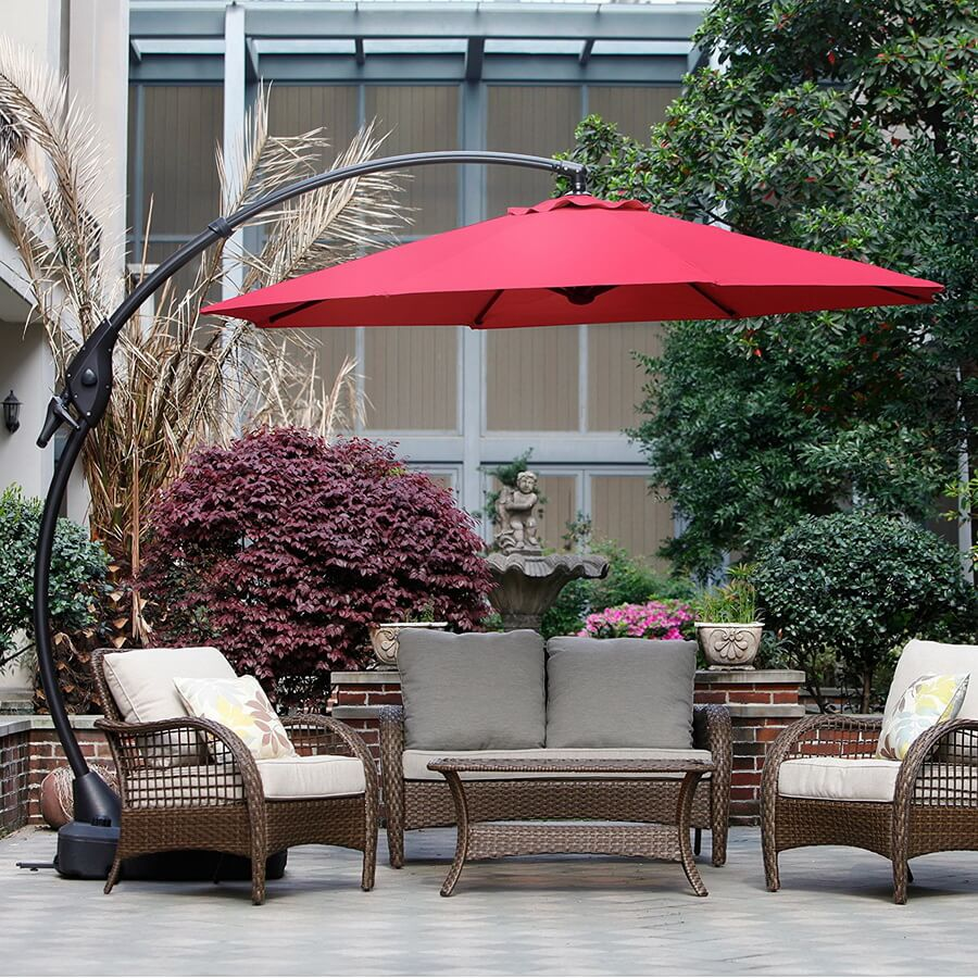 Grand Patio Deluxe Edition NAPOLI offset Patio Umbrella