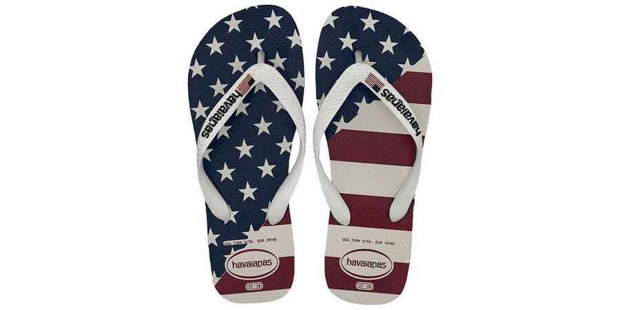 Havaianas Women's Top USA Flag White Flip Flop