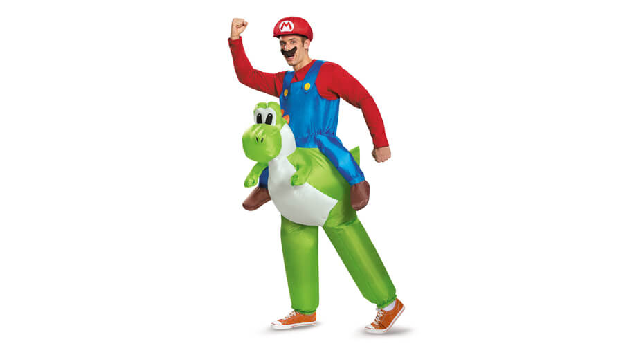 Mario Riding Yoshi Adult Halloween Costume