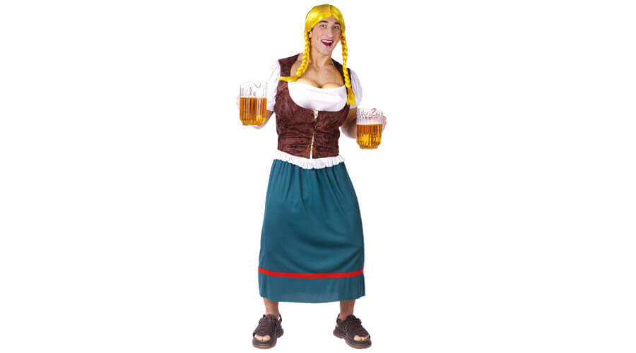 Mens German Beer Girl Halloween Costume