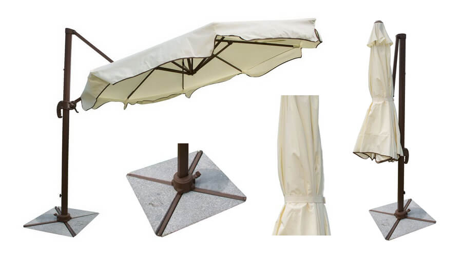 Panama Jack Outdoor Island Breeze Cantilever Umbrella