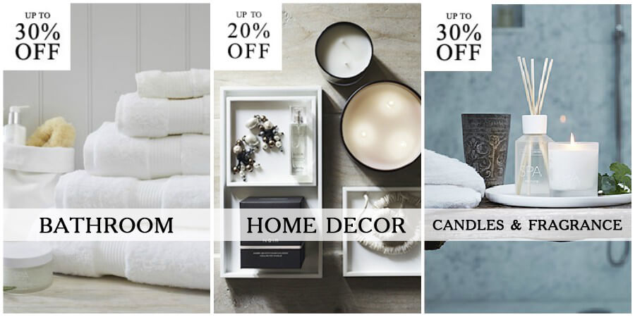 The White Company Mid-Season Sale on Home Decor