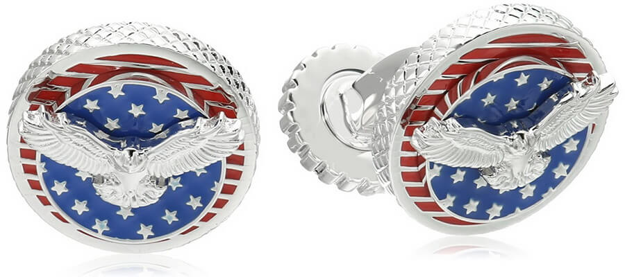Tateossian Rotating USA Flag Eagle Cuff Links
