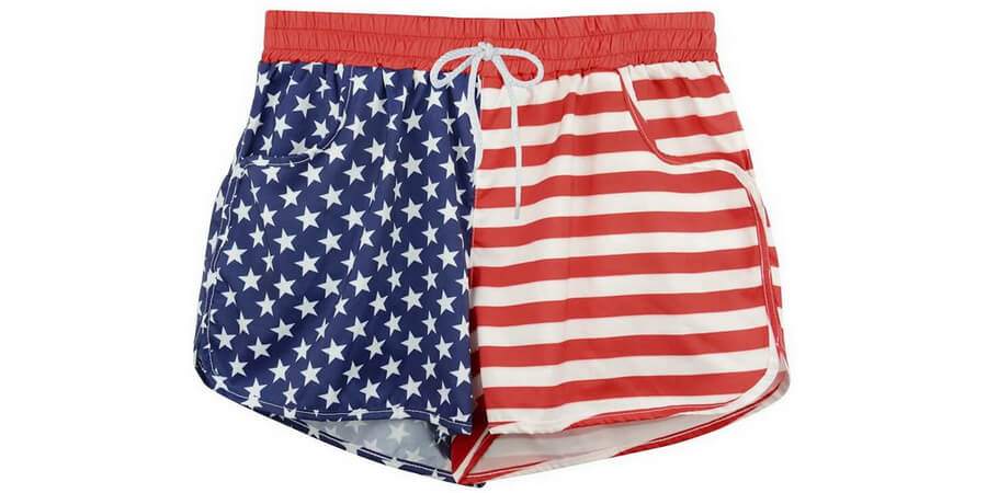 Women's American Flag Boardshort